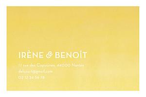Carte de correspondance jaune aquarelle jaune