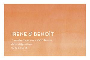 Carte de correspondance orange aquarelle orange