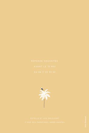 Carte d'invitation anniversaire adulte Palmiers jaune - Page 2