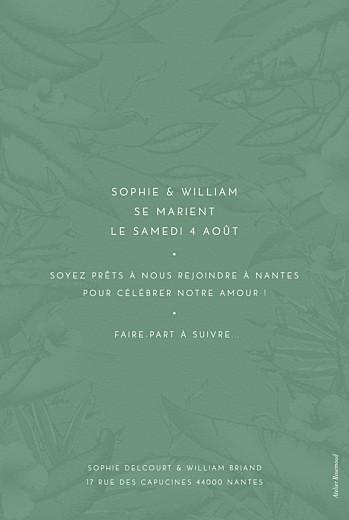 Save the Date Fleurs des îles vert - Page 2