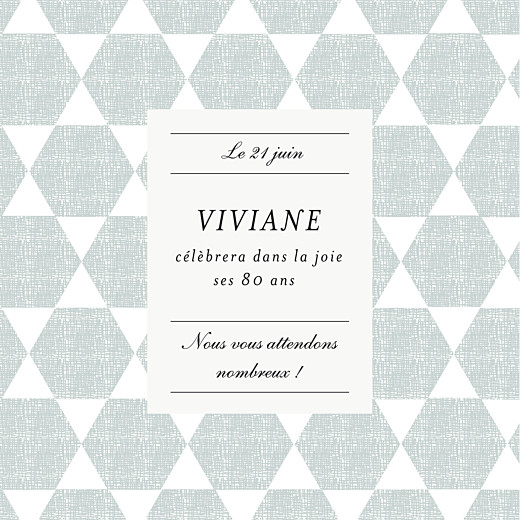 Carte d'invitation anniversaire adulte Toile de lin (4 pages) vert