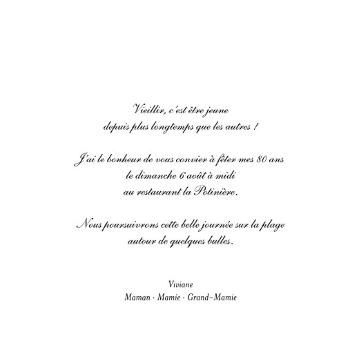 Carte d'invitation anniversaire adulte Toile de lin (4 pages) vert - Page 3