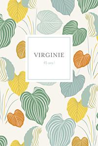 Carte d'invitation anniversaire adulte beige jardin exotique beige