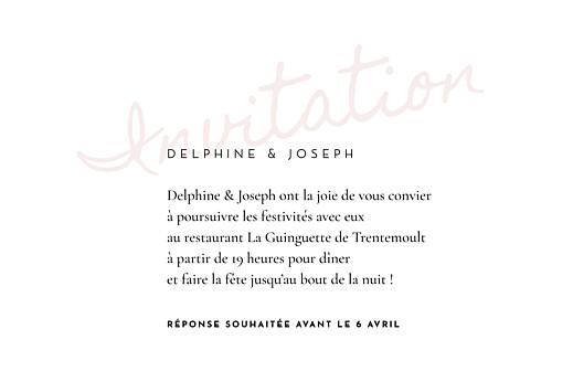 Carton d'invitation mariage Manuscrit rouge - Page 2