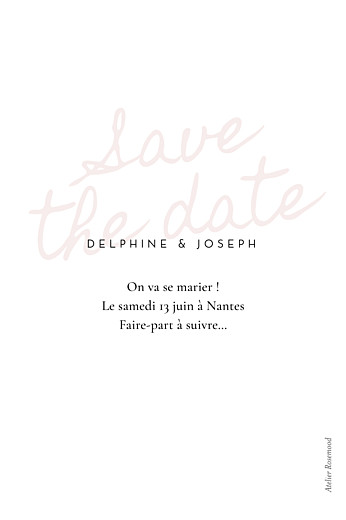 Save the Date Manuscrit rouge - Page 2