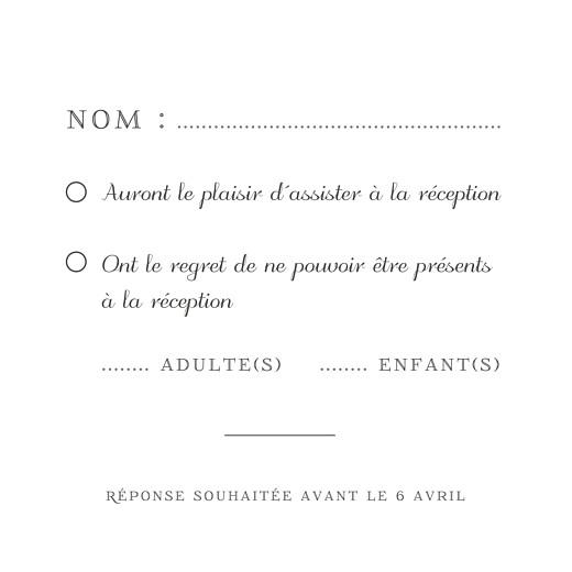 Carton réponse mariage Equateur vert - Page 2