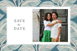 Save the date avec photo equateur std bleu