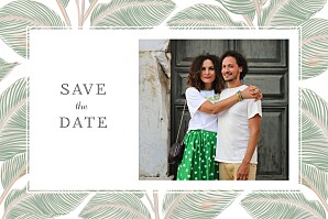 Save the date mr & mrs clynk  equateur vert