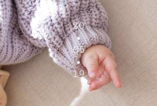 Faire-part de naissance Minimal (paysage) blanc