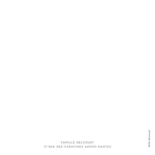 Faire-part de naissance Élégant cœur 4 pages (dorure) blanc - Page 4