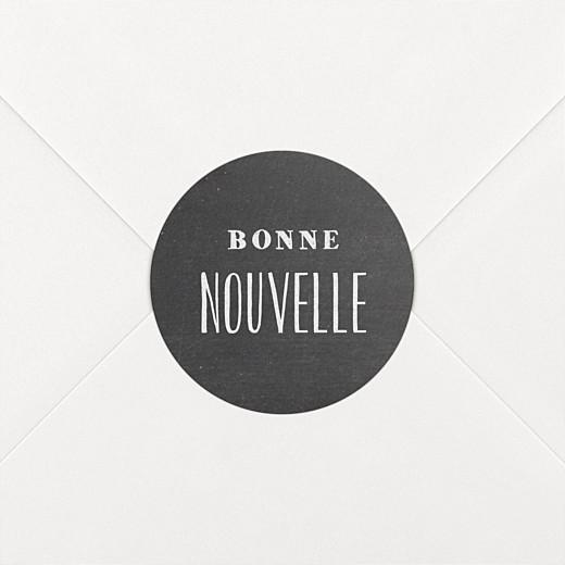 Stickers Naissance Ardoise noir - Vue 2