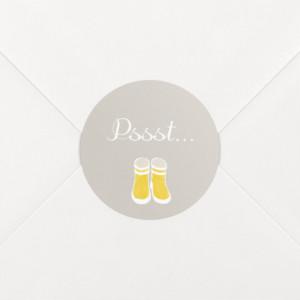 Stickers Naissance Balade jaune