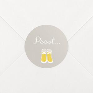 Stickers pour enveloppes naissance Balade jaune