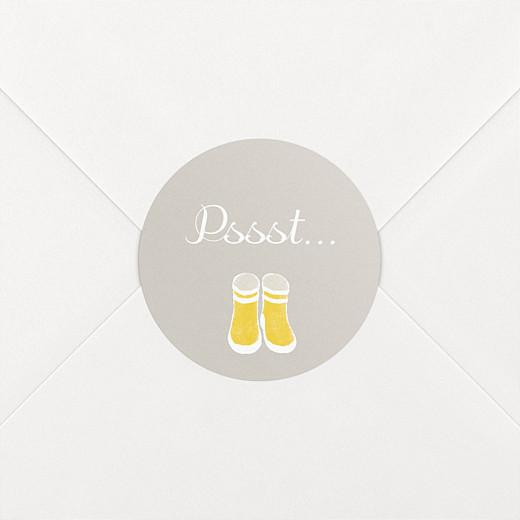 Stickers Naissance Balade jaune - Vue 2