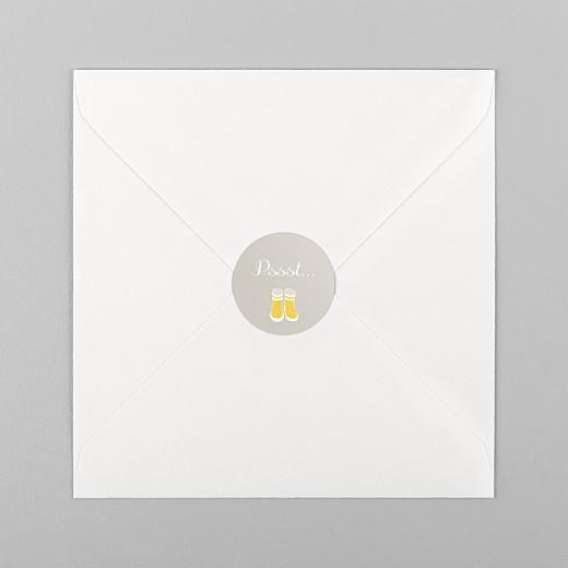 Stickers Naissance Balade jaune - Vue 1