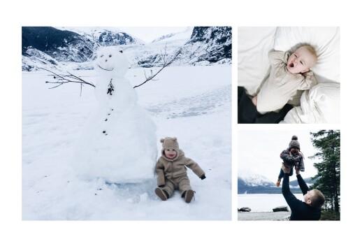 Carte de voeux Village d'hiver sapin - Page 2
