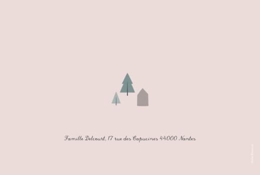 Carte de voeux Village d'hiver (dorure) rose - Page 4