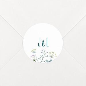 Stickers pour enveloppes mariage Bouquet sauvage blue