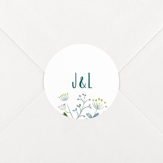 Stickers mariage Bouquet sauvage blue - Vue 2