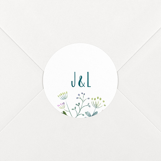 Stickers mariage Bouquet sauvage rose - Vue 2