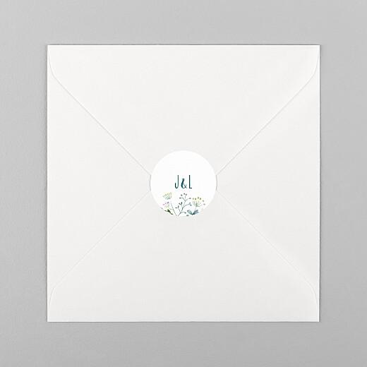 Stickers pour enveloppes mariage Bouquet sauvage blue - Vue 1