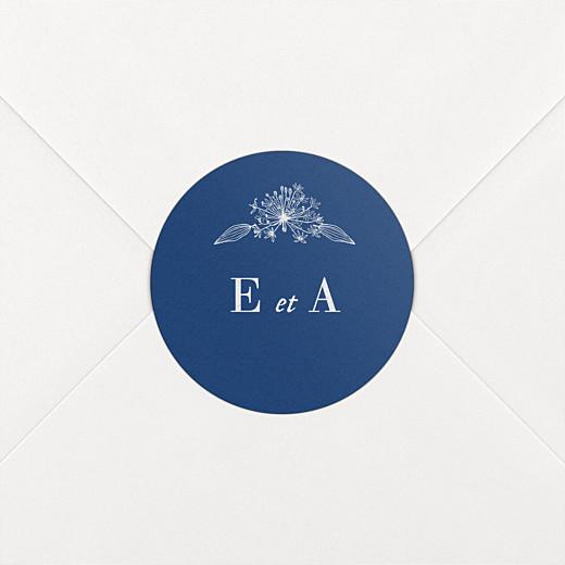 Stickers pour enveloppes mariage Nature chic bleu - Vue 2