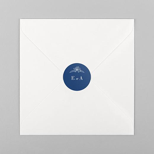 Stickers pour enveloppes mariage Nature chic bleu - Vue 1