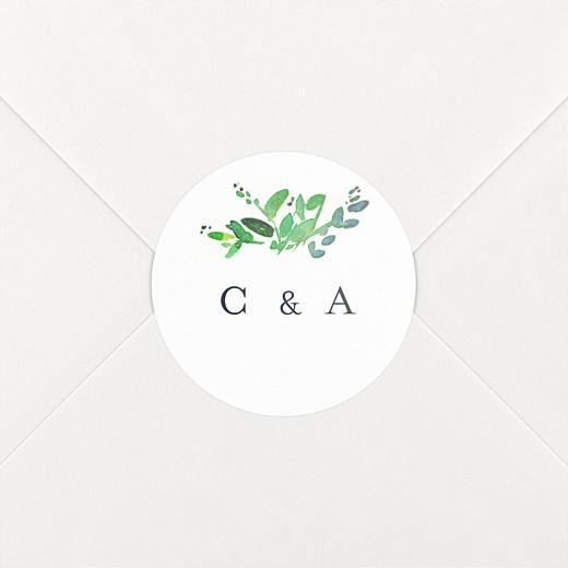 Stickers mariage Canopée vert - Vue 2