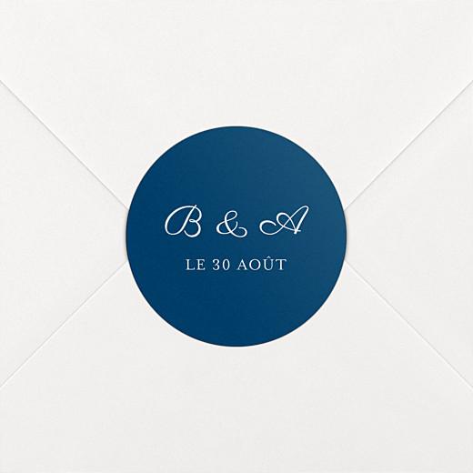 Stickers pour enveloppes mariage Carré chic bleu marine - Vue 2