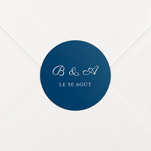 Stickers mariage Carré chic bleu marine - Vue 2