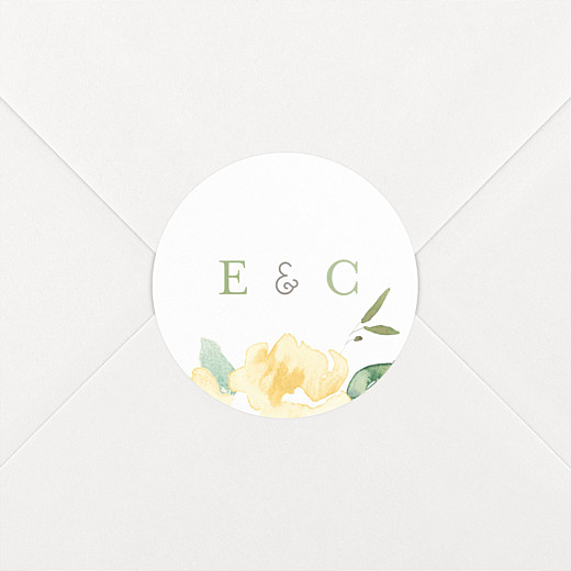 Stickers pour enveloppes mariage Jardin anglais vert - Vue 2