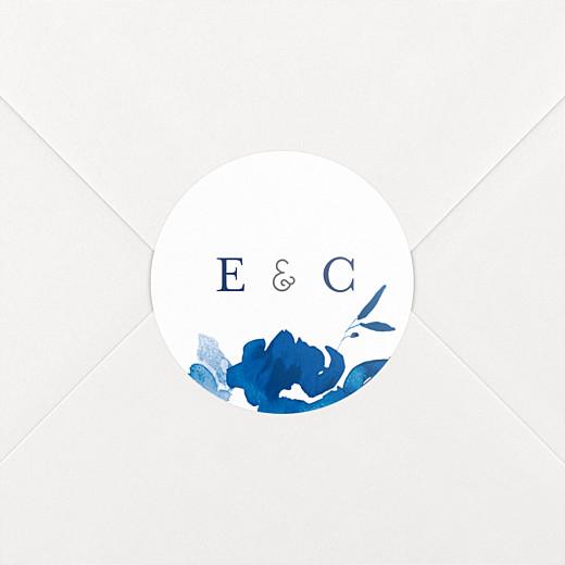 Stickers mariage Jardin anglais bleu - Vue 2