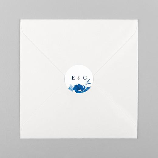 Stickers mariage Jardin anglais bleu - Vue 1