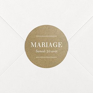 Stickers mariage l'essentiel kraft