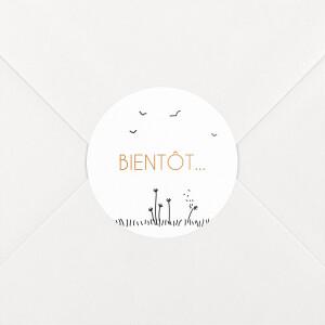 Stickers pour enveloppes mariage Promesse champêtre blanc