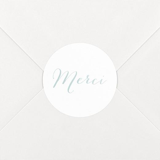 Stickers pour enveloppes mariage Merci blanc - Vue 2