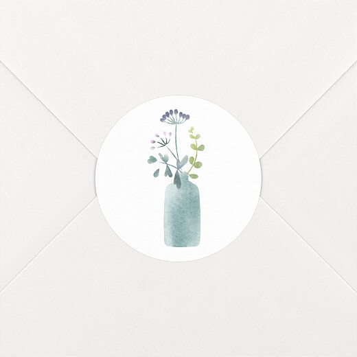 Stickers pour enveloppes mariage Bouquet sauvage blue - Vue 2