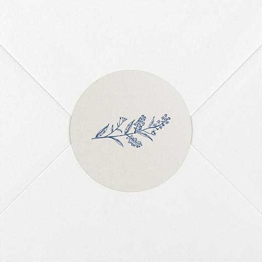 Stickers pour enveloppes mariage Nature chic beige - Vue 2