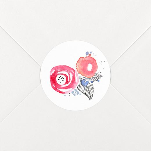 Stickers pour enveloppes mariage Romance blanc - Vue 2
