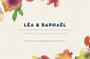 Carton d'invitation mariage original bloom ci beige
