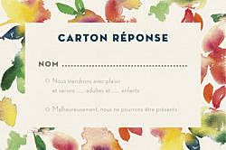Carton réponse mariage moderne bloom crep beige