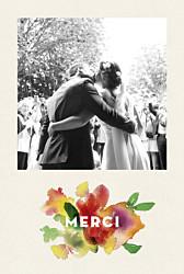 Carte de remerciement mariage champêtre bloom crm beige