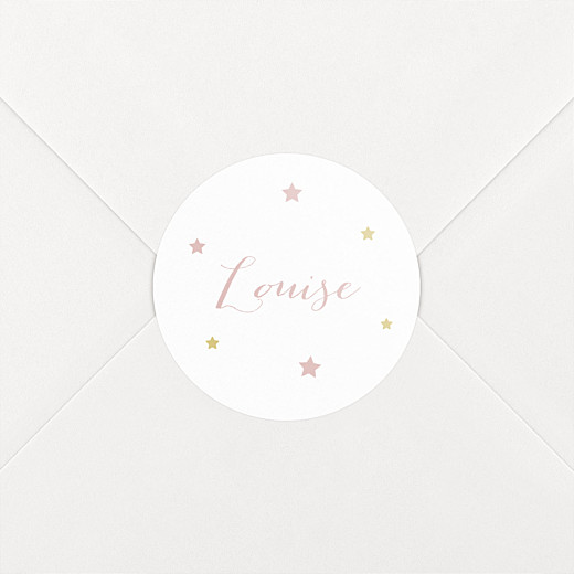 Stickers pour enveloppes naissance Lovely family rose - Vue 2