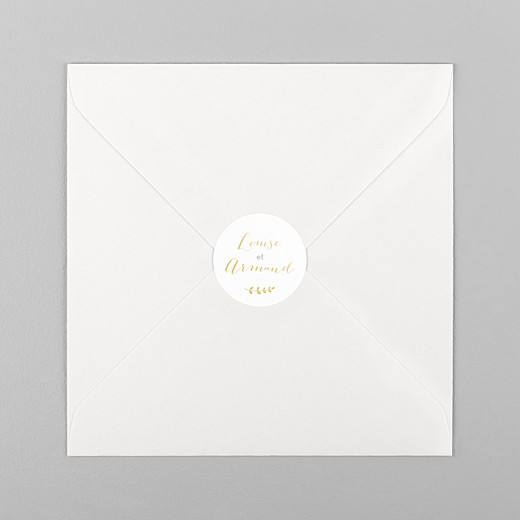 Stickers pour enveloppes naissance Lovely family jumeaux ocre - Vue 1