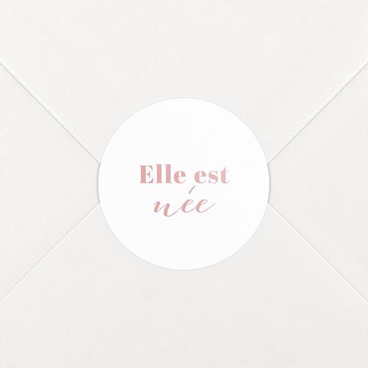 Stickers pour enveloppes naissance Classique blanc - Vue 2