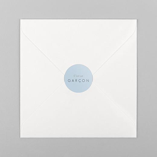Stickers pour enveloppes naissance Comptine bleu - Vue 1