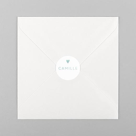 Stickers Naissance Élégant cœur vert - Vue 1