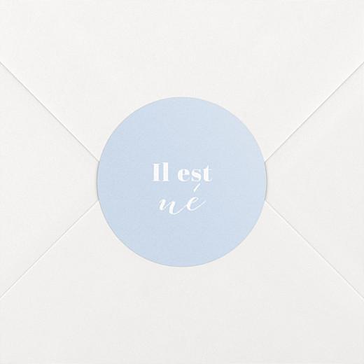 Stickers pour enveloppes naissance Classique bleu ciel - Vue 2
