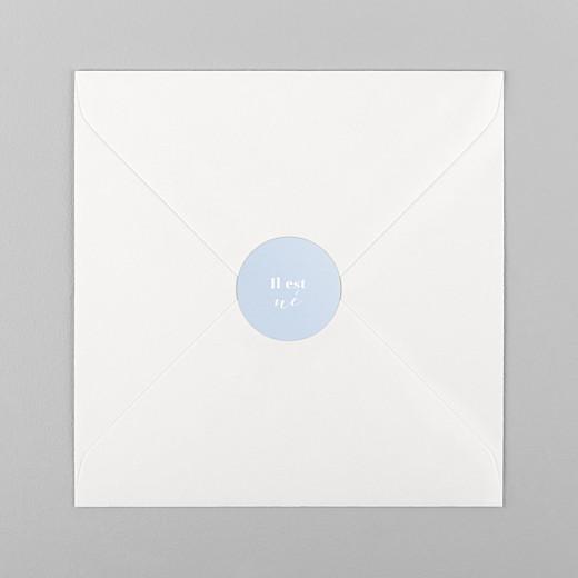 Stickers pour enveloppes naissance Classique bleu ciel - Vue 1