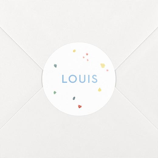 Stickers pour enveloppes naissance Éléphants en famille blanc - Vue 2